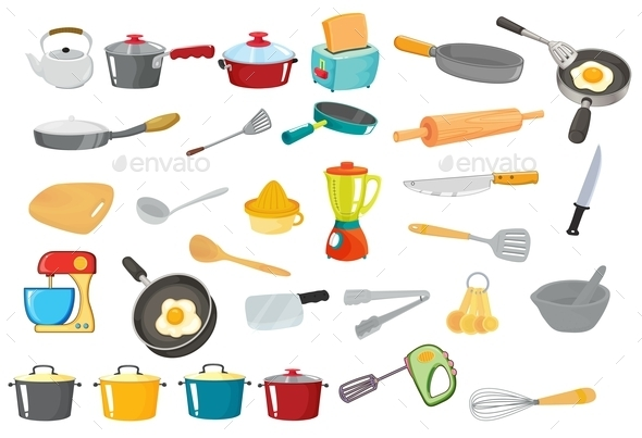 Various Utensils - Man-made Objects Objects