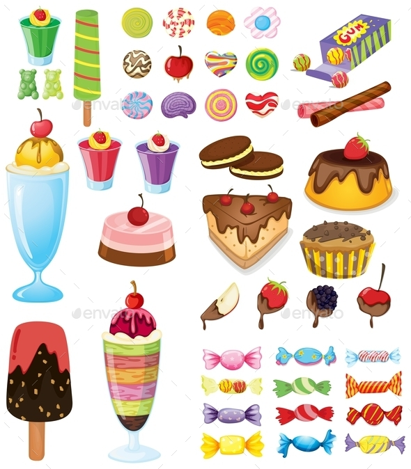 Different Sweets - Food Objects