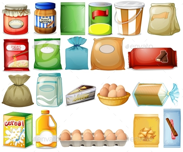 Set of Foods - Food Objects