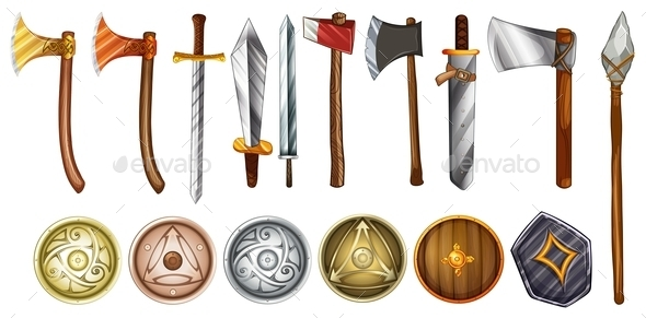 Weapons and Shields - Man-made Objects Objects