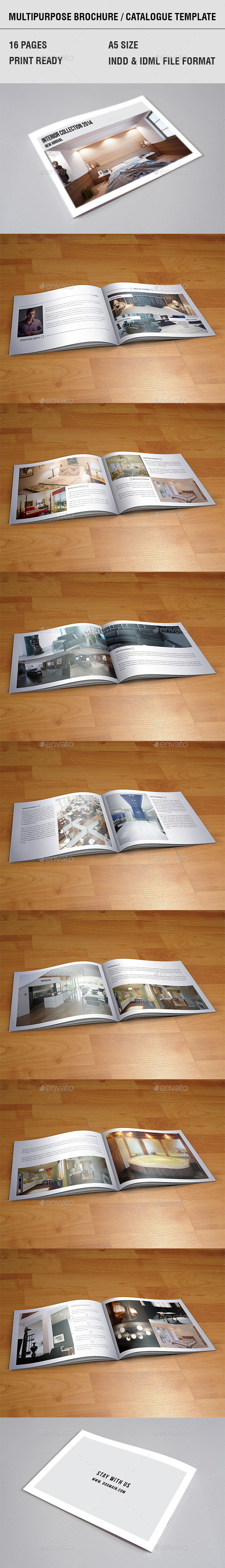 Multipurpose Brochure / Catalogue Template - Catalogs Brochures