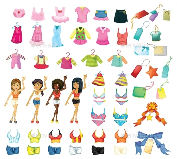 Girl Dress Set - People Characters