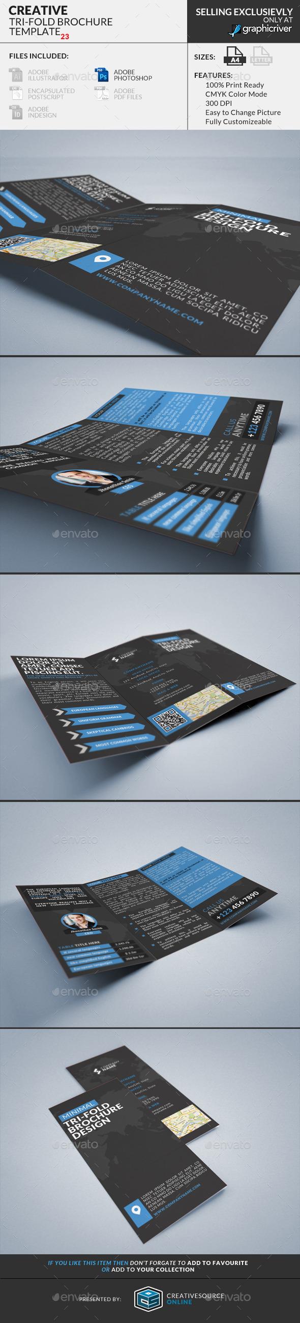 Trifold Brochure 24 : Minimal Creative - Corporate Brochures