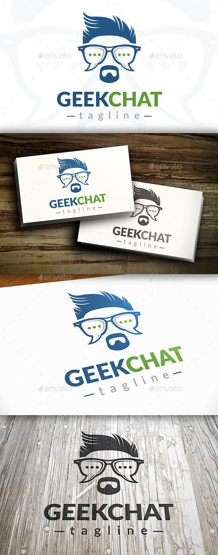 Geek Chat Logo Template - Humans Logo Templates