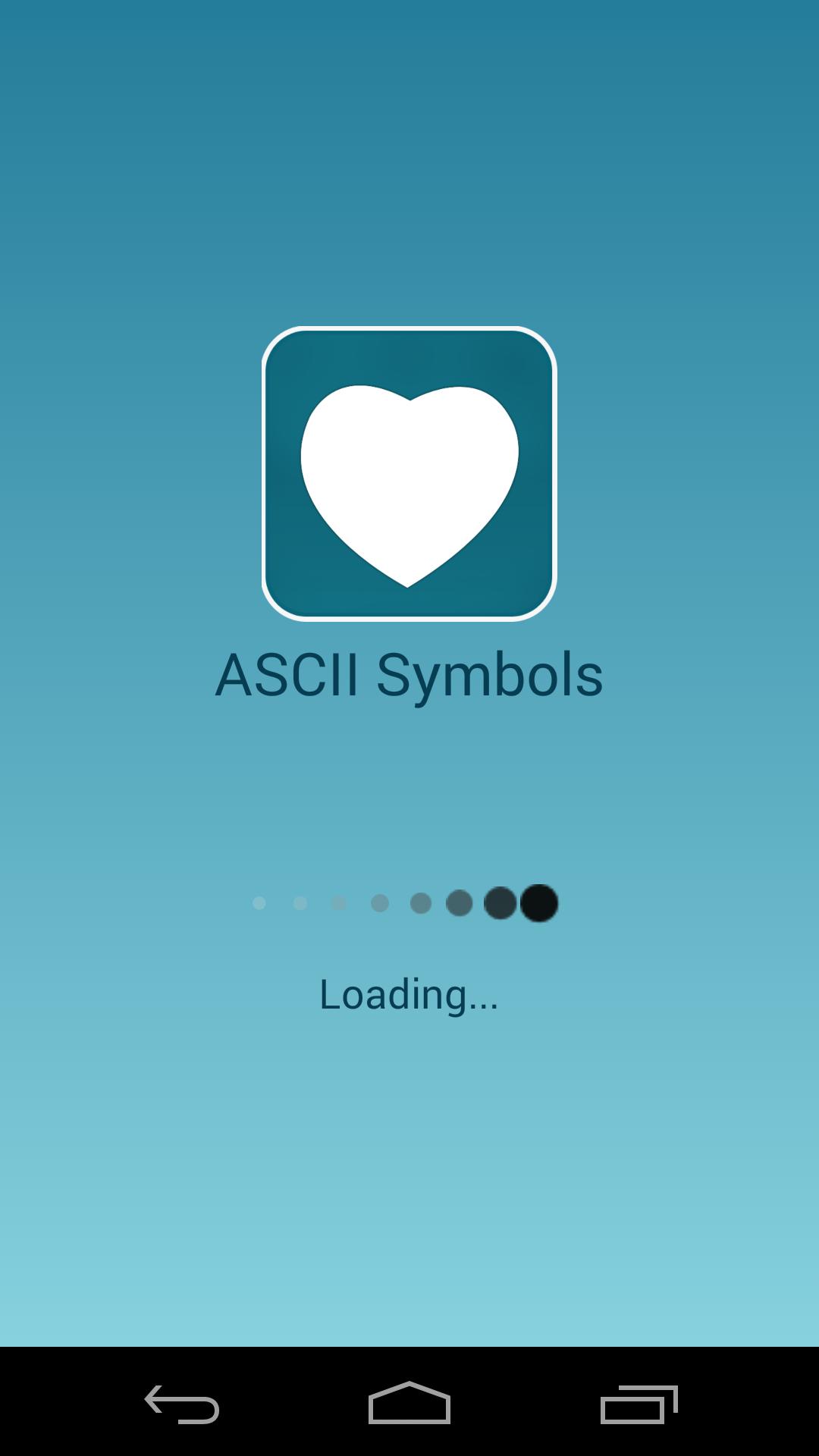 Ascii Text Symbols Top Android App By Sanketbafna Codecanyon