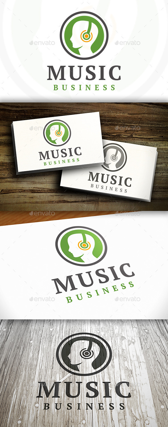 Music People Logo - Humans Logo Templates