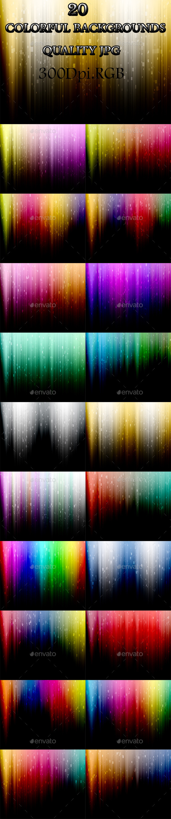 20 Backgrounds  - Abstract Backgrounds