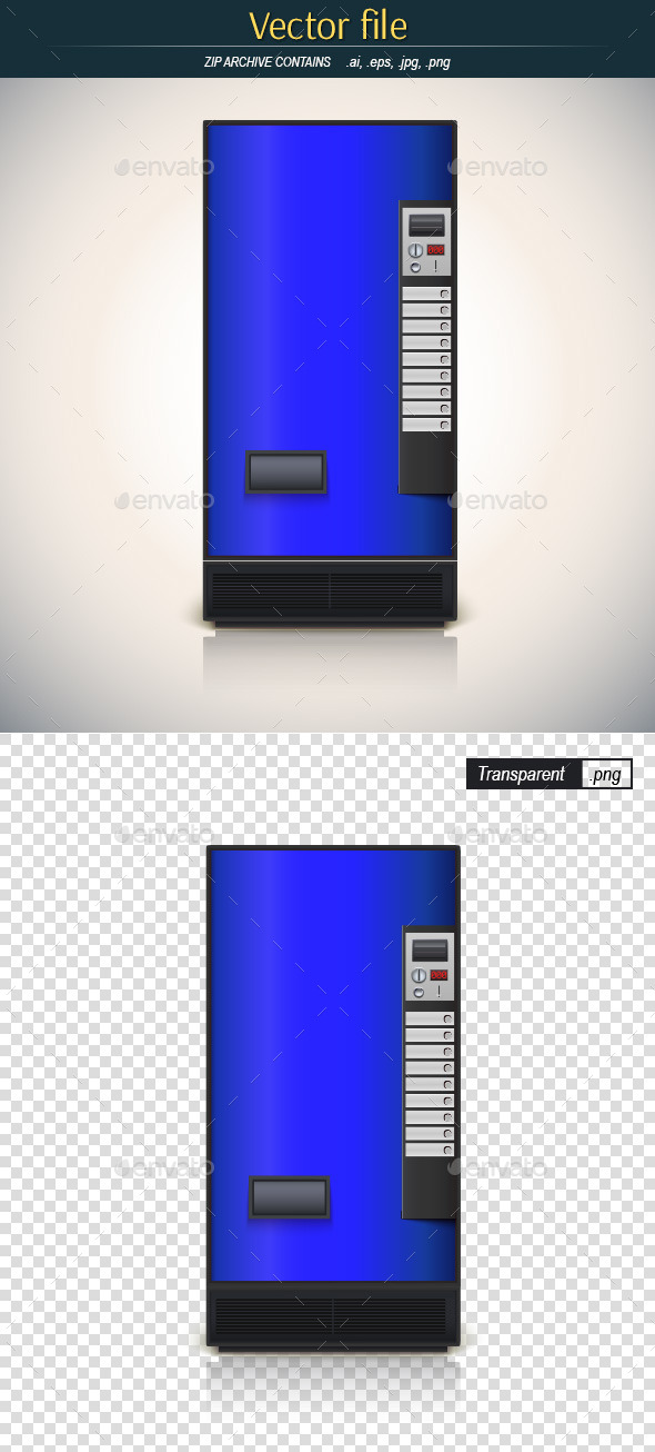 Blue Vending Machine - Man-made Objects Objects