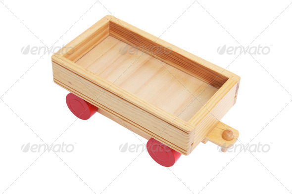 Wooden Toy Cart - Stock Photo - Images