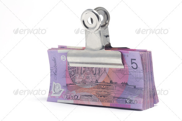 Banknotes with Paperclip - Stock Photo - Images