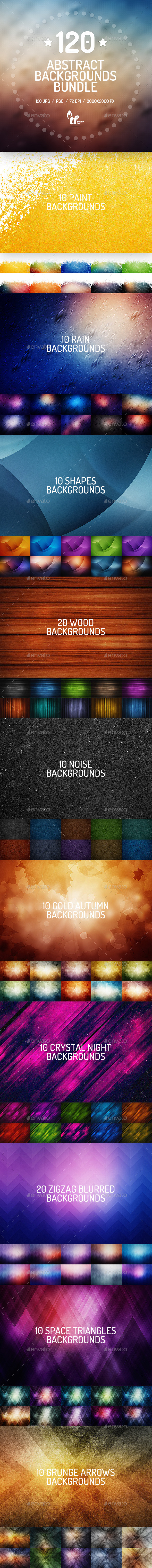 120 Abstract Backgrounds Bundle - Abstract Backgrounds