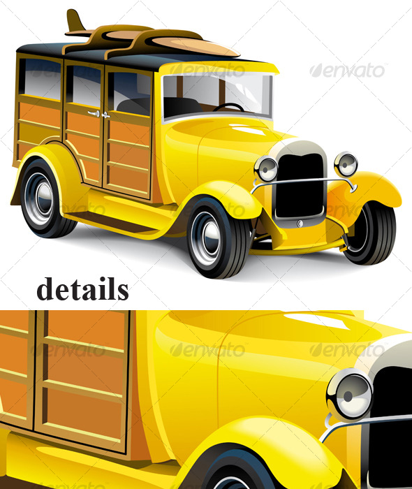 Yellow Hot Rod - Retro Technology