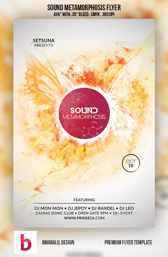 Sound Metamorphosis Flyer - Clubs & Parties Events