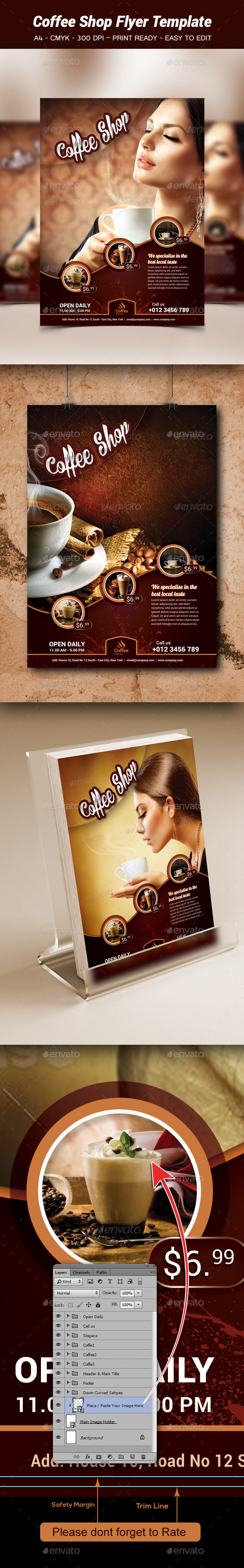 Coffe Shop Flyer Template - Flyers Print Templates