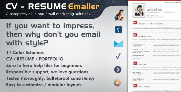 CV Folio – Resume/Portfolio Email Newsletter
