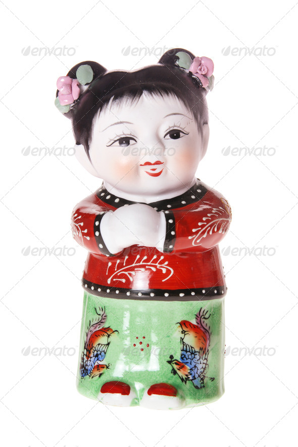 Chinese Girl Figurine - Stock Photo - Images