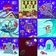 Set of Xmas Caricatures. Santa Troubles. - GraphicRiver Item for Sale