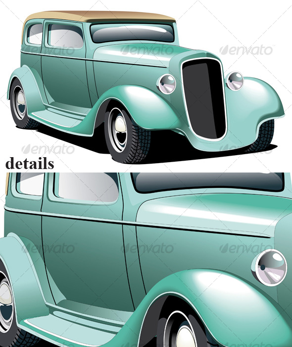Green Hot Rod - Retro Technology