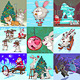 Set of Xmas Caricatures. New Year and Bannies. - GraphicRiver Item for Sale