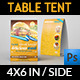 Restaurant and Cafe Table Tent Template