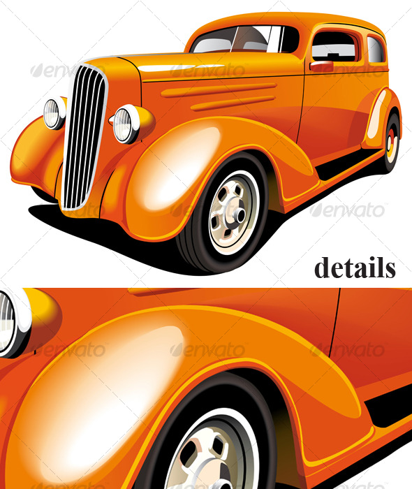 Orange Hot Rod - Retro Technology