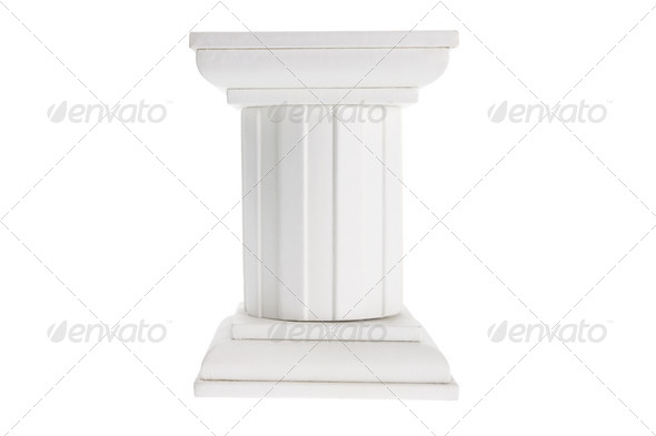 Wooden Display Stand - Stock Photo - Images