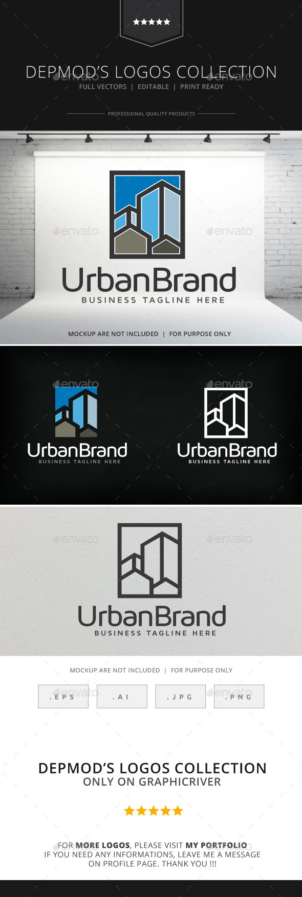 Urban Brand Logo - Buildings Logo Templates