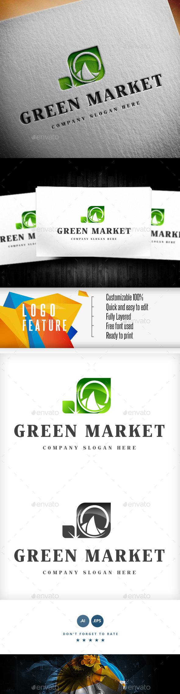 Green Market Logo - Logo Templates