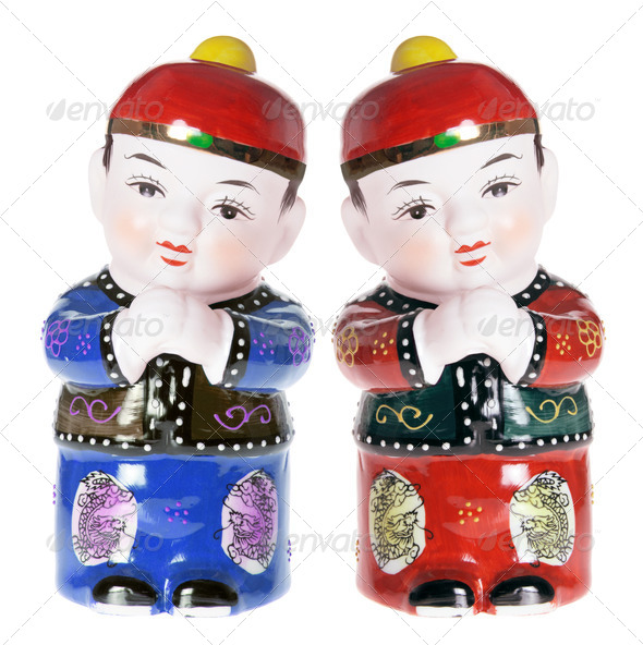 Chinese Boy Figurines - Stock Photo - Images