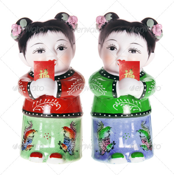 Chinese Girl Figurines - Stock Photo - Images
