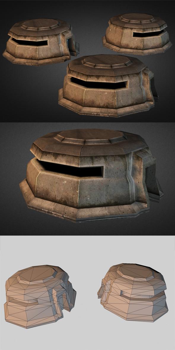 Concrete Bunker - 3DOcean Item for Sale