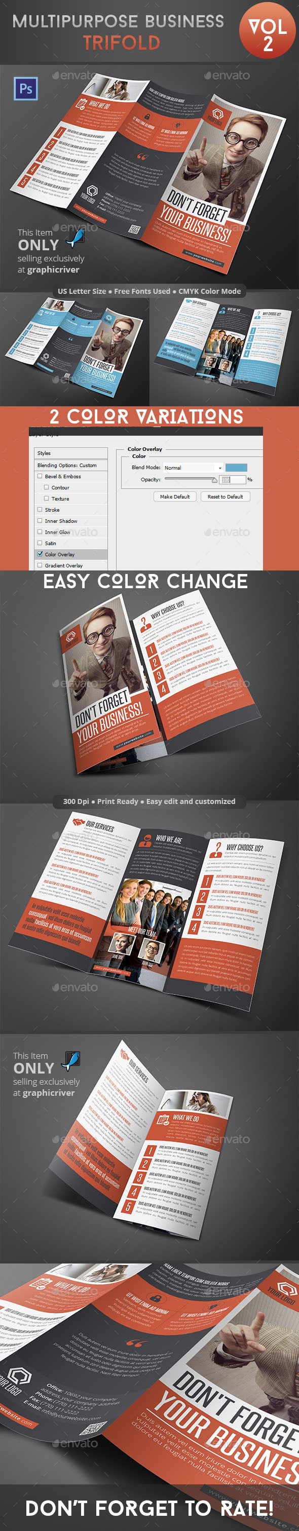 Multipurpose Business Trifold Vol 2 - Informational Brochures