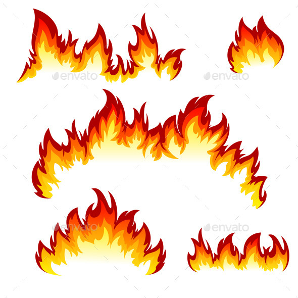 Set of Flames - Decorative Symbols Decorative