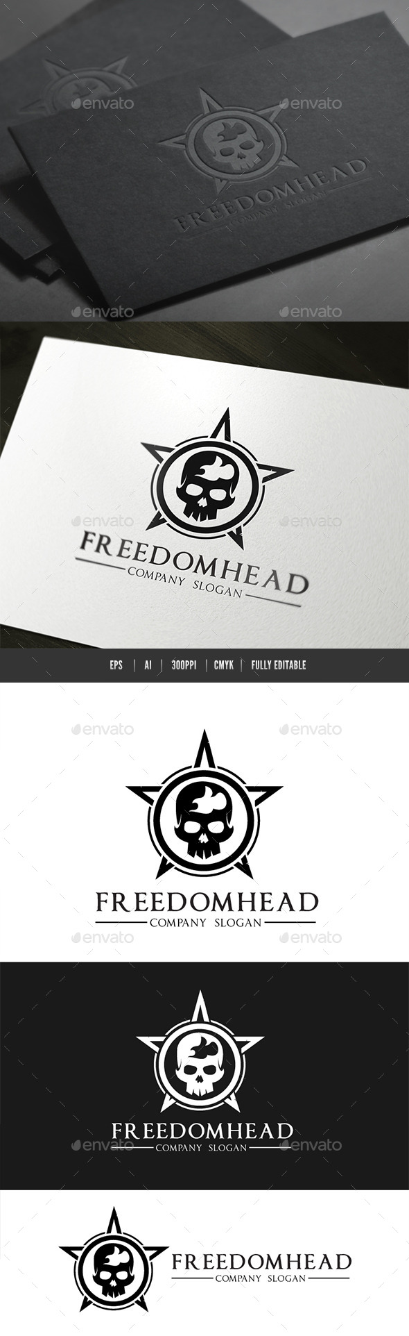 Freedom Head Logo - Humans Logo Templates