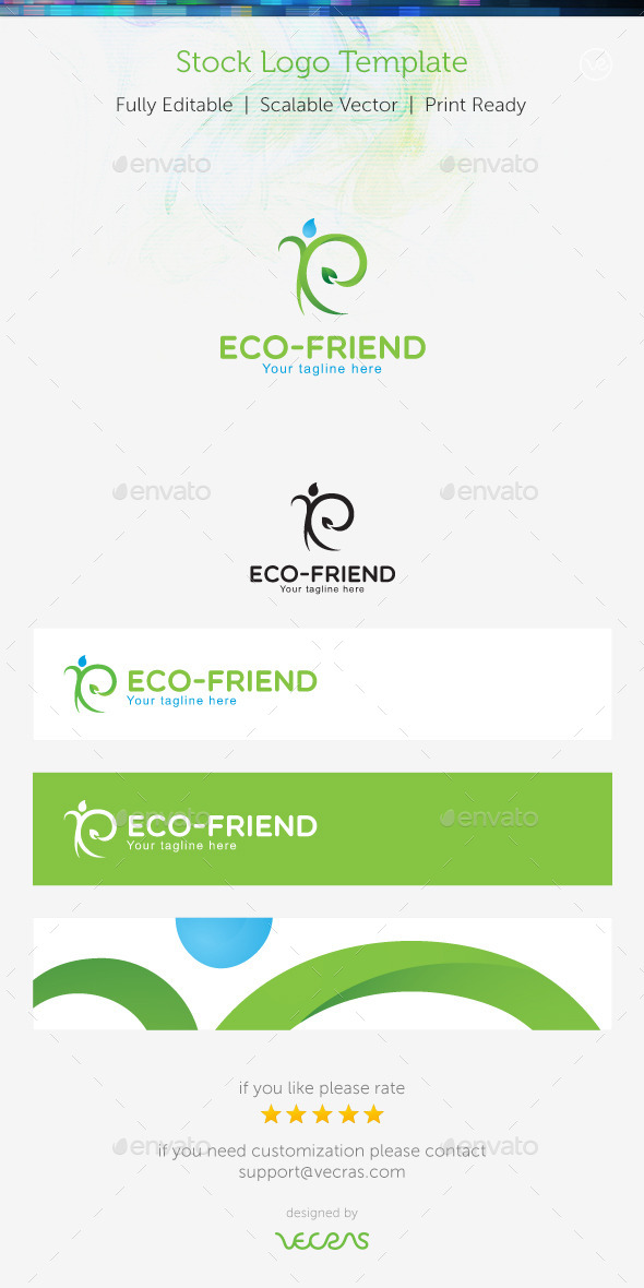 Eco-Friend Stock Logo Template  - Nature Logo Templates
