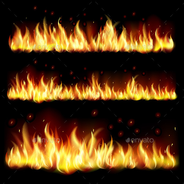 Background with Flames - Miscellaneous Vectors