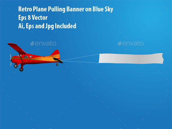 Plane With Banner - Man-made Objects Objects