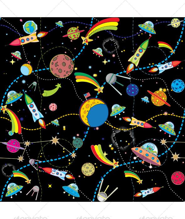 Similar Space Background - Backgrounds Decorative