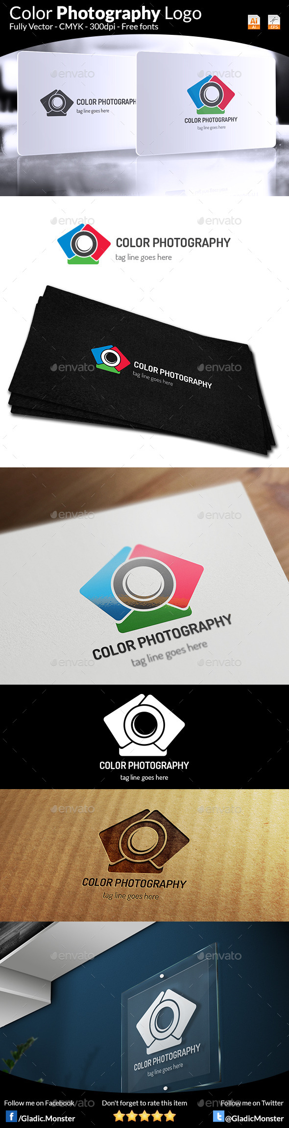 Color Photography Logo - Symbols Logo Templates