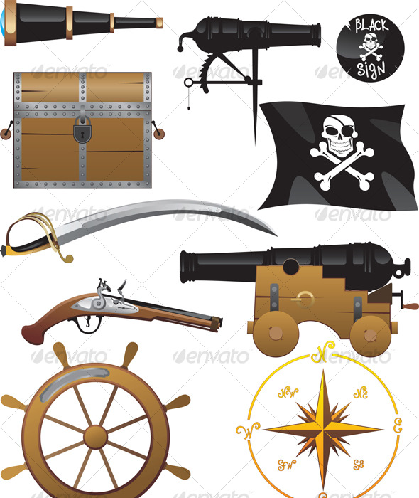 Pirate set - Man-made Objects Objects