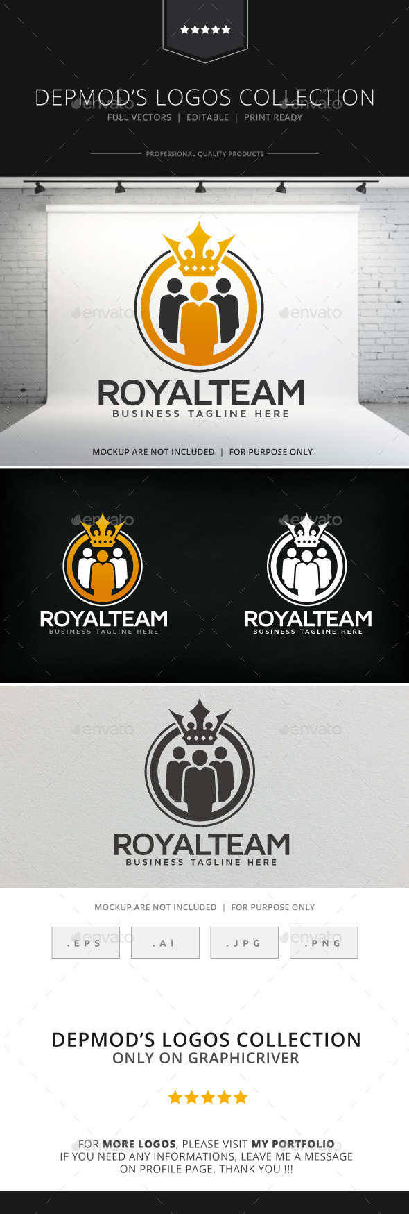 Royal Team Logo - Humans Logo Templates