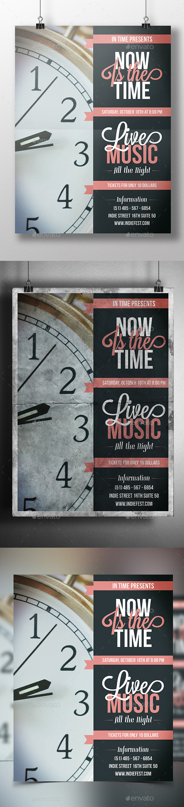 In Time Flyer Template - Miscellaneous Events
