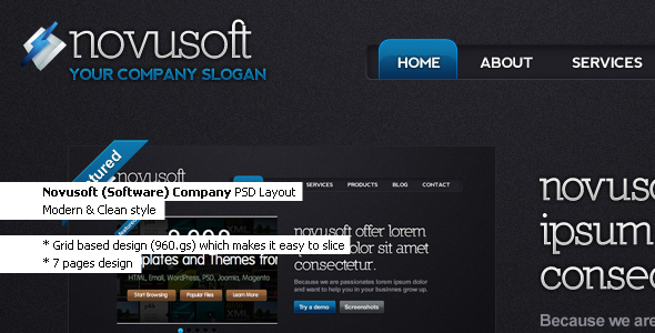 Free Download Novusoft - PSD Template Nulled Latest Version