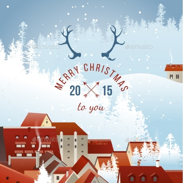 Landscape with Christmas Type Design - Christmas Seasons/Holidays