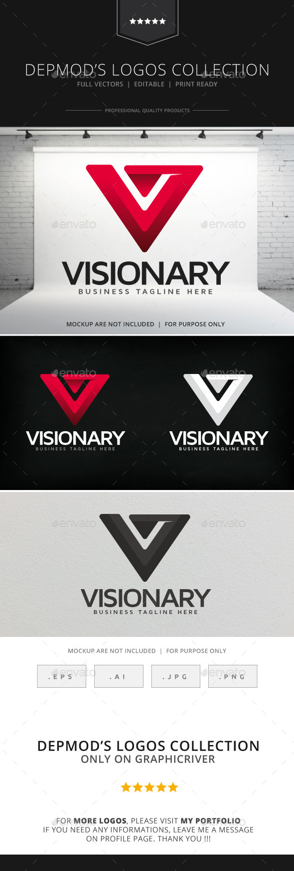 Visionary Logo - Letters Logo Templates