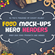 Food Hero Headers Macbook Mock-ups - GraphicRiver Item for Sale