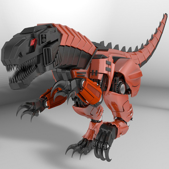 Raptor dinosaur robot - 3DOcean Item for Sale