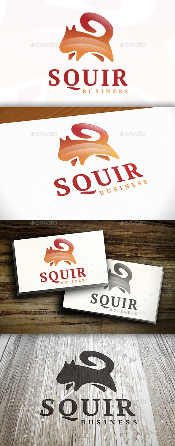 Squirrel Logo - Animals Logo Templates