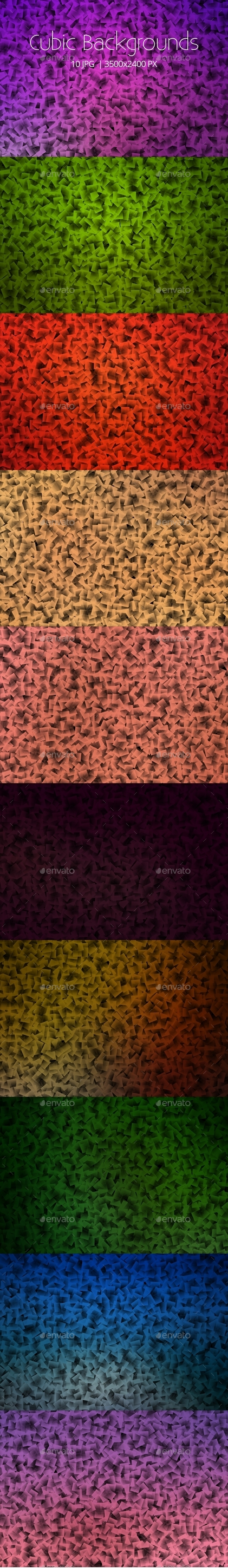 Abstract Cubic Backgrounds - Abstract Backgrounds