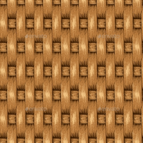 Wicker Seamless Background - Patterns Decorative